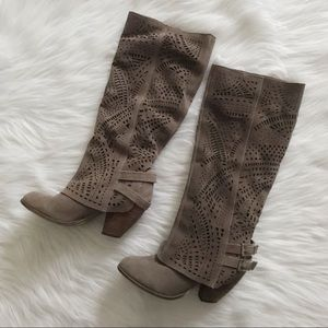 NAUGHTY MONKEY Fast Times Laser Cut Suede Boot
